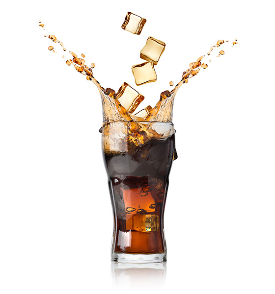 Cold glass of Coca-Cola