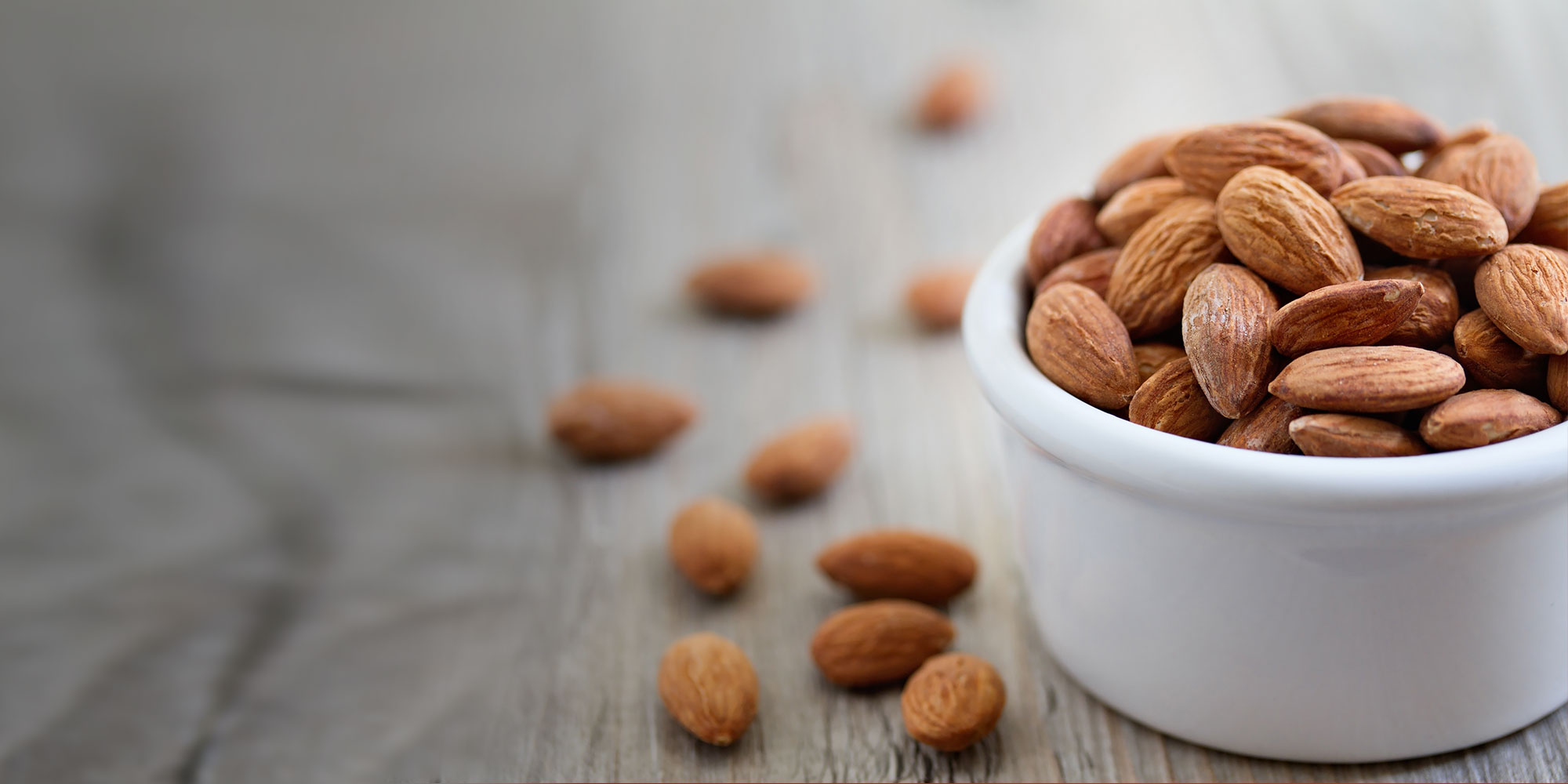 Healthy and nutritrious bowl of almonds
